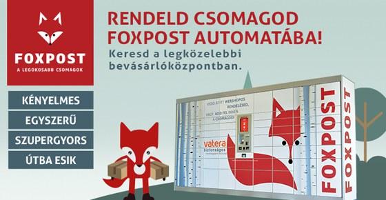 Vedd át csomagod FOXPOST Csomagautomatában!
